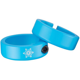 Supacaz Star Ringz Clamping Rings neon blue matte powder-coated